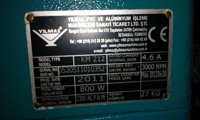 YILMAZ KM 212 Станок для обработки торцов импоста (портативный)
